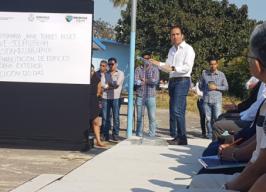 Alcalde Fernando Yunes Anunció la Rehabilitación de la escuela primaria Jaime Torres Bodet
