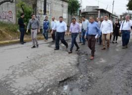 Supervisa Alcalde de Veracruz la obra del Eje Intercolonias