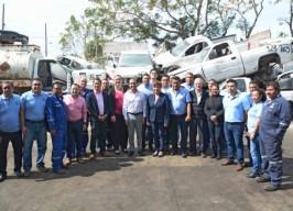El Alcalde Fernando Yunes Visitó la Bodega de Control Vehicular