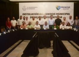 Alcalde Fernando Yunes Máquez da inicio a la Instalación del Consejo Municipal de Mejora Regulatoria
