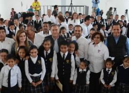 """Acude alcalde Fernando Yunes Márquez a la entrega de rehabilitación de la escuela primaria """"Gral. Miguel Alemán"""""""