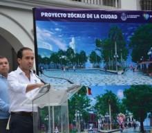 Presenta alcalde Fernando Yunes Márquez proyecto de mejoramiento del Zócalo de Veracruz
